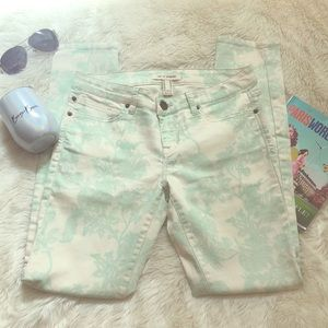 Life in progress summer jeans 28🌴 green floral